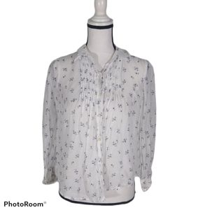 Rebecca Taylor button down sheer top size 0
